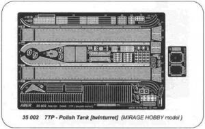 AB35002  Polish 7TP twin turret version (designed to be used with Mirage kits)